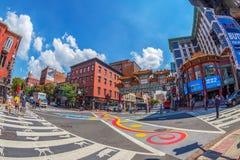 Arco no bairro chinês, Washington, EUA Imagens de Stock Royalty Free