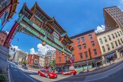 Arco no bairro chinês, Washington, EUA Imagens de Stock