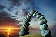 Arco no seashore Imagem de Stock