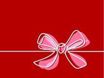 Arco-nudo de Holly Decoration de la Navidad Foto de archivo libre de regalías