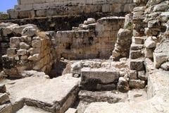 Arco occidental de Jerusalén Robinson de la pared Imagen de archivo