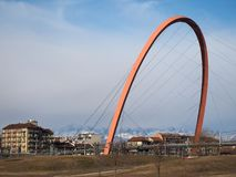 Arco Olimpico (ολυμπιακή αψίδα) στο Τορίνο Στοκ Εικόνες
