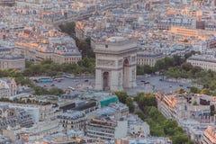 Arco París del triunfo Imagen de archivo libre de regalías
