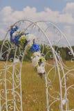 Arco para la ceremonia de boda Disposición de la boda Imagen de archivo libre de regalías