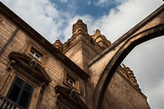 Arco and peaks of the Cathedral of Palermo Stock Photos