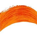 Arco pintado laranja Elemento do vetor Fotos de Stock