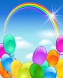 Arco-íris, bolhas e sol Imagens de Stock Royalty Free