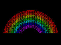 Arco-íris de néon Fotografia de Stock