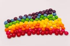 Arco-íris dos doces Fotos de Stock Royalty Free