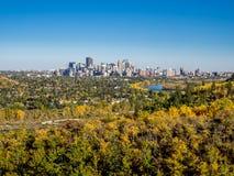 Arco River Valley a Calgary immagini stock libere da diritti