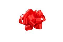 Arco rojo aislado en el fondo blanco Fotos de archivo libres de regalías