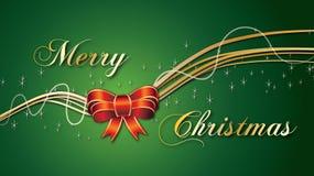 Arco rojo de la Feliz Navidad en fondo verde ilustración del vector