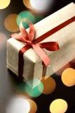 Arco rojo del regalo Imagenes de archivo