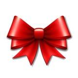 Arco rojo del regalo del vector Imagen de archivo libre de regalías