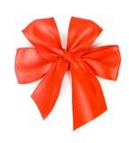Arco rojo sobre el fondo blanco Foto de archivo libre de regalías