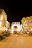 Arco romano nel centro di Pola Immagine Stock