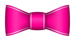 Arco rosa del nastro di natale Immagine Stock Libera da Diritti