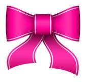 Arco rosa del nastro di natale Immagini Stock Libere da Diritti