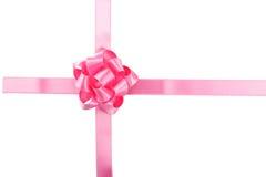 Arco rosado en el fondo blanco, cierre para arriba Imagen de archivo libre de regalías