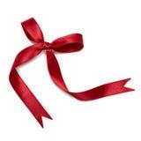 Arco rosso del nastro Immagini Stock