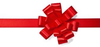 Arco rosso del raso Fotografia Stock