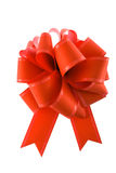 Arco rosso del regalo Fotografie Stock Libere da Diritti