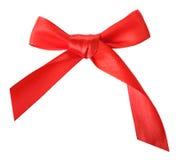 Arco rosso del regalo Immagine Stock