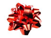 Arco rosso del regalo Fotografia Stock
