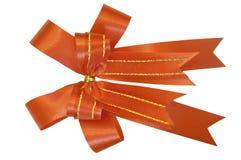 Arco rosso del regalo. Nastro Immagini Stock Libere da Diritti