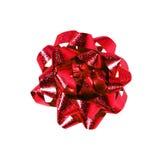 Arco rosso dell'involucro di regalo Immagini Stock