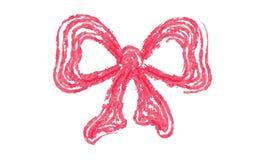 Arco rosso disegnato a mano Immagini Stock Libere da Diritti