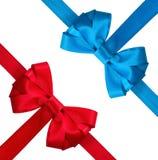 Arco rosso e blu festivo Immagini Stock