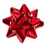 Arco rosso lucido del regalo fotografia stock