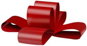 Arco rosso per il contenitore di regalo Immagine Stock Libera da Diritti