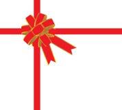 Arco rosso per il regalo Immagini Stock
