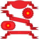 Arco rosso, regalo, il premio. Fotografia Stock