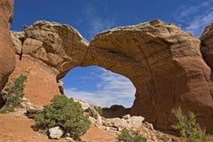 Arco rotto in arché parco nazionale, Utah Fotografia Stock Libera da Diritti