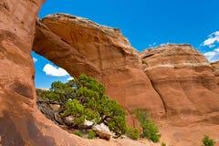 Arco rotto in arché parco nazionale, Utah Fotografia Stock