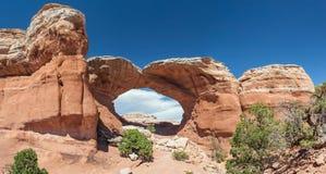 Arco rotto nel parco nazionale Utah U.S.A. di arché fotografie stock