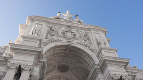 Arco Rua Augusta detail. The detail of the Rua Augusta Arch in Lisbon, Portugal Royalty Free Stock Photo