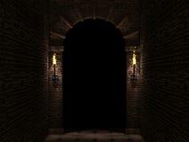 Arco scuro Fotografie Stock
