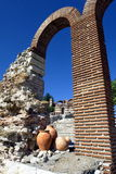 Arco semicircular do tijolo alto Fotografia de Stock Royalty Free