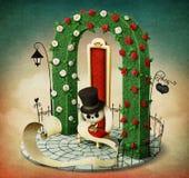 Arco, silla y conejo Imagen de archivo