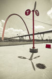 Arco sospeso gigante Fotografie Stock