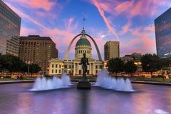 Arco St Louis de la entrada Foto de archivo libre de regalías