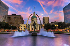 Arco St Louis dell'ingresso Fotografia Stock Libera da Diritti