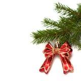 Arco su un albero di Natale Immagini Stock