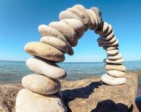 Arco sulla spiaggia Fotografia Stock