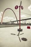 Arco suspendido gigante fotos de archivo