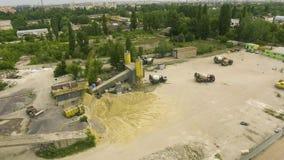 Arco tirado de torres de trabajo del transportador y del almacenamiento de la pequeña fábrica concreta metrajes